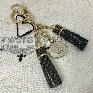 Brahmin Double Tassel Key Ring SAMBA MELBOURNE New